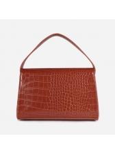 Alligator Print Hasp Square Over Shoulder Bag
