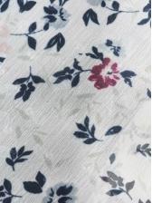 Ethnic Printed Bow Collar Chiffon Blouse