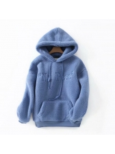 Winter Lambswool Pockets Warm Hoodies