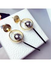 Stylish Pearls Design Round Earring