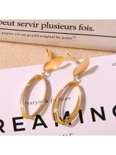 Vintage Ellipse Alloy Chic Earrings