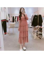 Fashion Glitter V Neck Tiered Dress