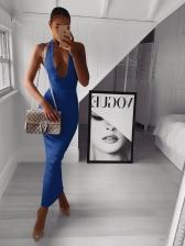 Sexy Halter Bodycon Backless Ladies  Maxi Dress