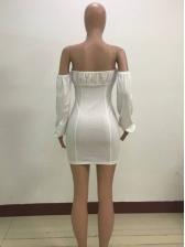 Tie-wrap Bodycon Off The Shoulder Dress