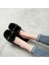 Winter Round Toe Fur Warm Flats