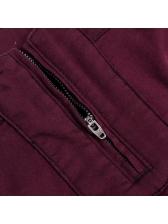 Hot Sale Zip Patchwork Solid Pencil Pants