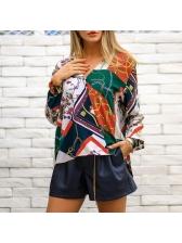 High-End V Neck Printed Blouse For Women