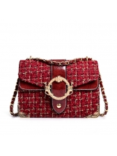 Hot Sale Plaid Chain Shoulder Bag For Women