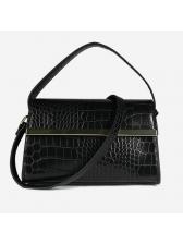 Alligator Pattern Hasp Shoulder Bag