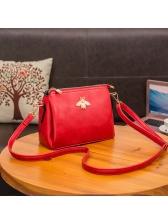 Simple Style Bee Design Shoulder Bag