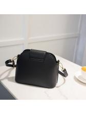 Simple Style Solid Hasp Shoulder Bag