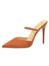 Pointed Solid High Heels For Women
