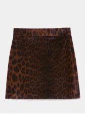 Stylish Leopard Print Mini Skirt