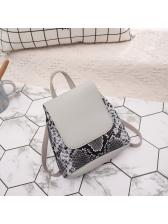 Snake Printed Flap Small Backpack Bag