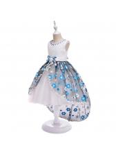 Fashionable Beaded Gauze Girls Flower Dresses