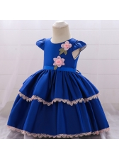 New Year Tiered Flower Toddler Flower Dresses