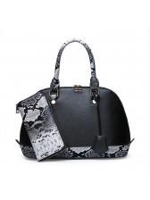 Snake Printed Large Capacity Handbag For Women
