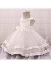 Fashionable Bow Gauze Flower Girls Dresses