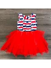 Striped Star Patchwork Gauze Dresses