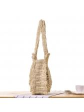 Handmade Hook Flower Hollow Out Straw Bag