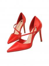 OL Solid Color High Heel Strappy Pumps
