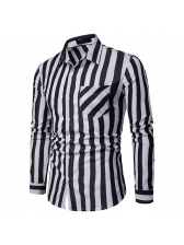 Hot Sale Striped Fitted Business Shirt For Men