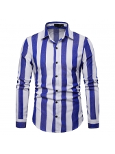 Fashion Striped Fitted Shirt For Men