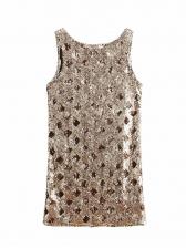 Vintage V Neck Geometric Sequin Dress