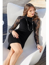 Euro Lace Patchwork Bodycon Dress