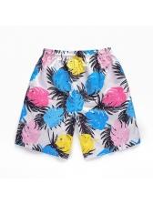 Casual Printed Elastic Waist Short Pants For Men