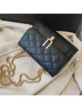Simple Design Diamond Pattern Chain Bags