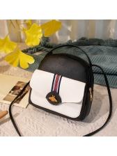 Causal Pu Patchwork Zipper Mini Backpacks