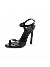 Summer Peep-Toe A Buckle Stiletto For Women