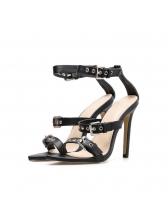 Sexy Peep-Toe Belt Buckles High-Heeled Sandals