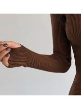 Korean Bodycon Slit Knitted Dress