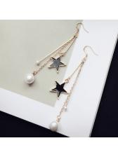 Fashion Star Pearls Design Earring