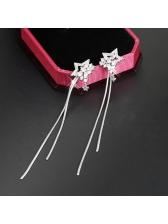 Star Rhinestone Tassel Fashion Earring