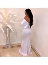 Off Shoulder Fitted Floor Length Wholesale Evening Dresses