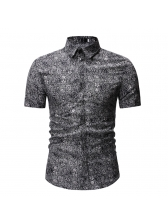 National Style Printing Turndown Collar Shirt