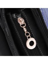 Sweet Style Contrast Color Chain Shoulder Bag