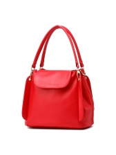 Ol Style Solid Hasp Hand Bag For Women