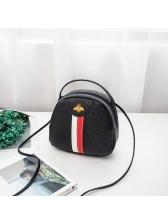 Fashion Striped Bee Patchwork Mini Crossbody Bag
