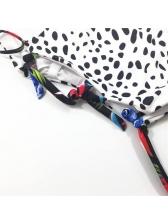 U Neck Leopard-Print Lace Up Hollow Out Swimsuit
