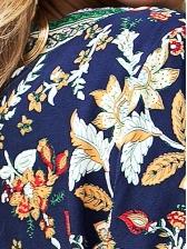 National Style V Neck Floral Romper For Women