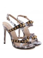Stylish Beading Ankle Straps Sandals