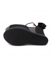 Night Club Peep-Toe Ankle Straps Platform Wedges