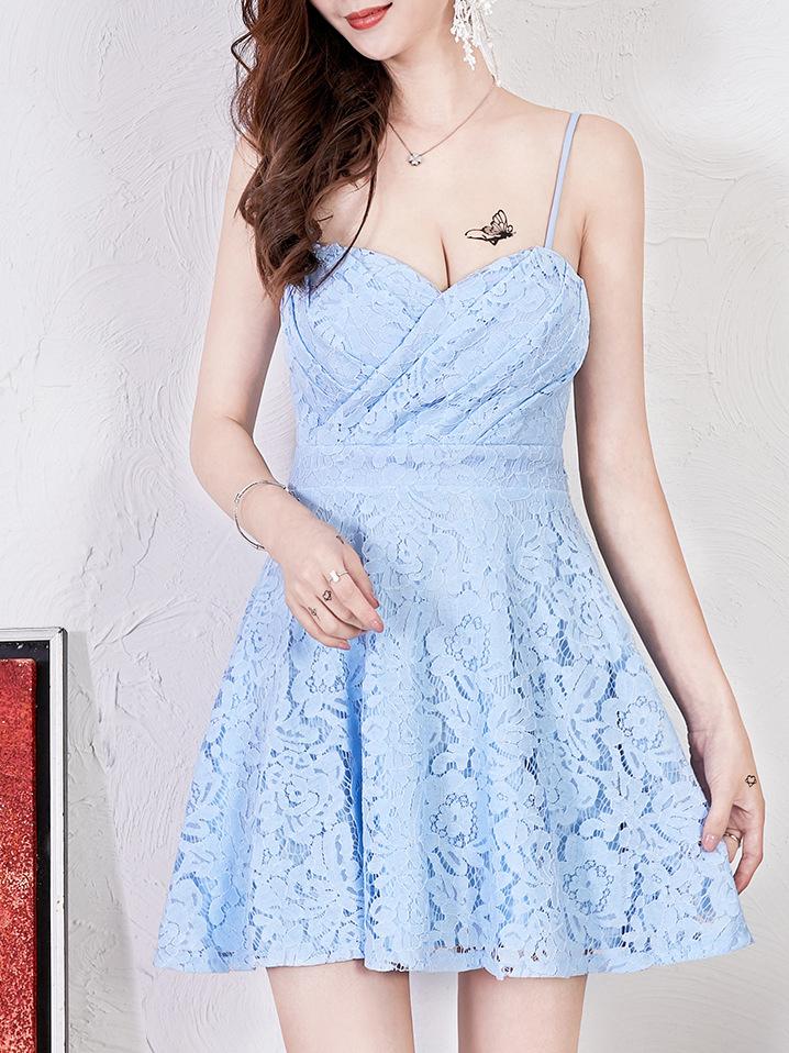 Lace Low-cut Spaghetti Strap Dress