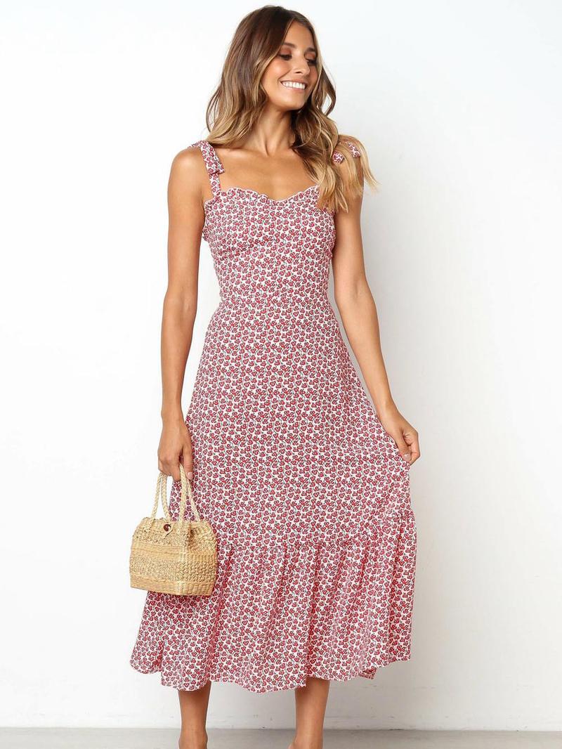 Summer Smart Waist Floral Dresses