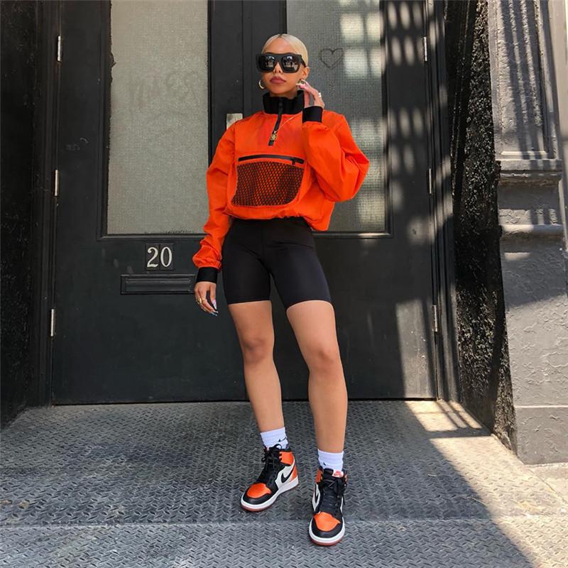 Euro Turndown Neck Matching Woman Sweatshirt