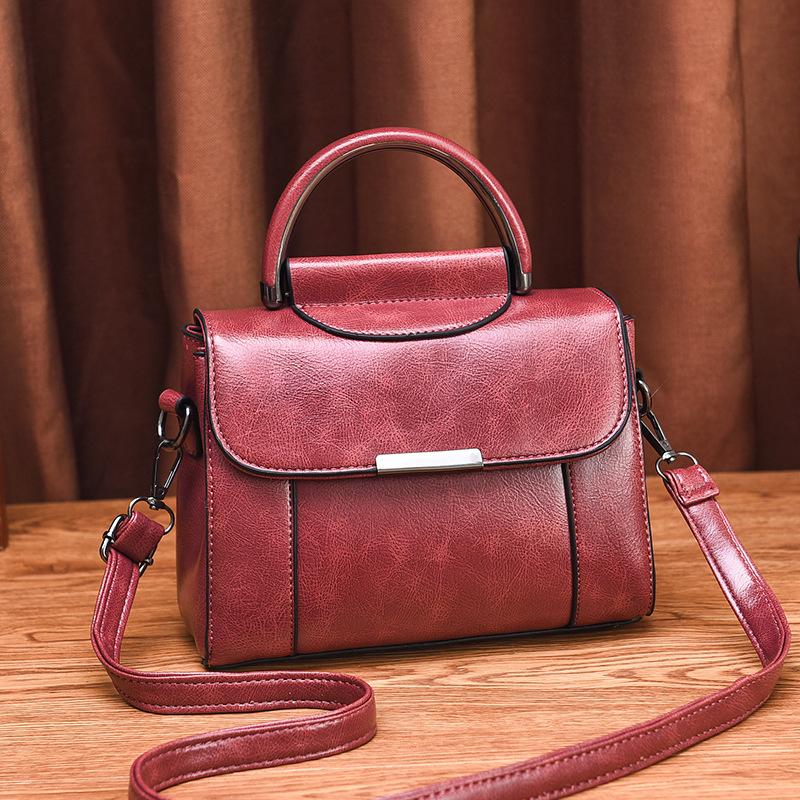 Vintage Semicircle Handle Square Shoulder Bag